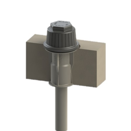 Filter Nozzle with G sleeve in concrete floor - STANDARD